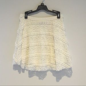 Off-White Lace Skirt